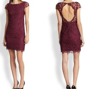 Alice + Olivia Clover Open Back Lace Dress 4
